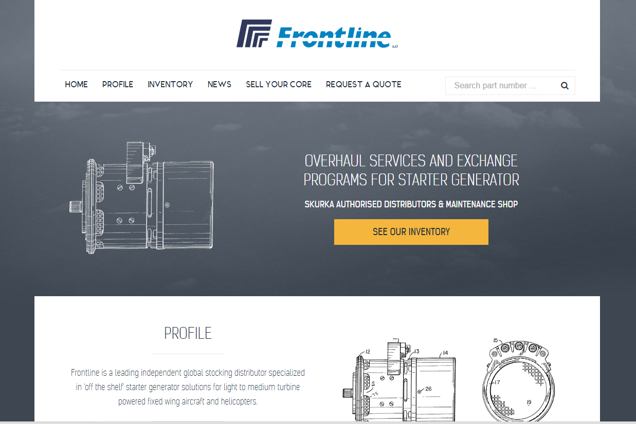 Frontline: a Website about Starter Generators for Helicopters